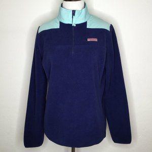 Vineyard Vines Blue  Fleece pullover sz S